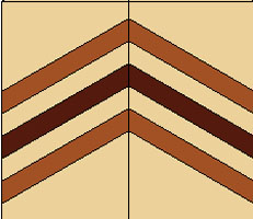 zigzag from 7 part lamination board